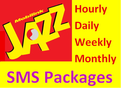how to activate Jazz SMS Packages of Daily, Weekly, Monthly