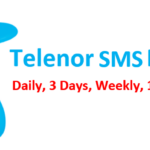 Telenor SMS Packages daily, weekly and monthly