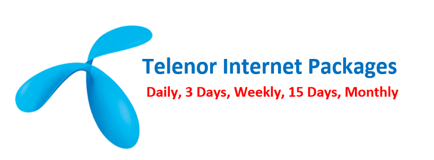 How to activate Telenor internet Packages Daily, Weekly, Monthly