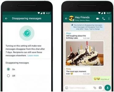 WhatsApp Announce Disappearing Text Messages